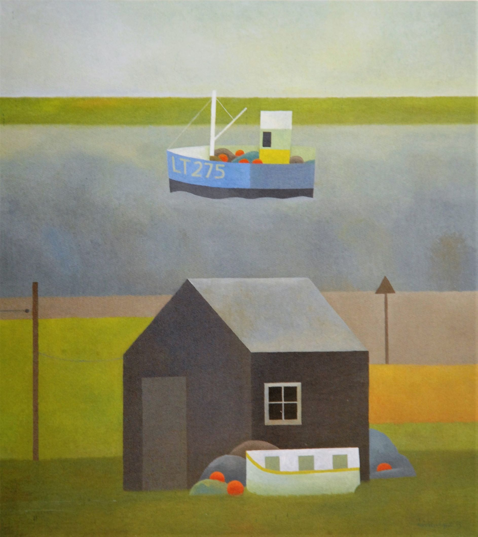 Painting by Reg Cartwright- Suffolk Estuary.