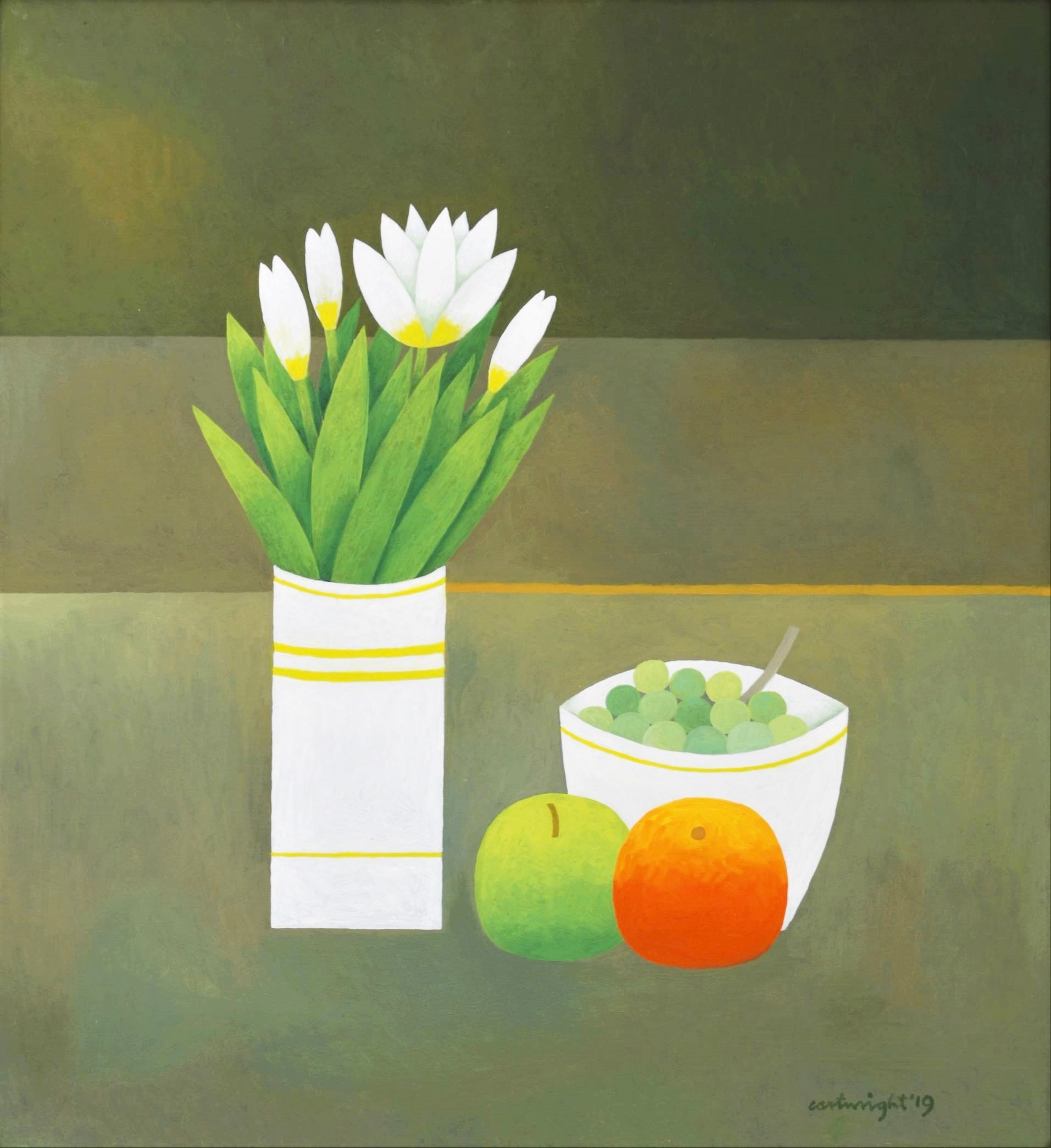 Painting by Reg Cartwright- Still Life with Flowers