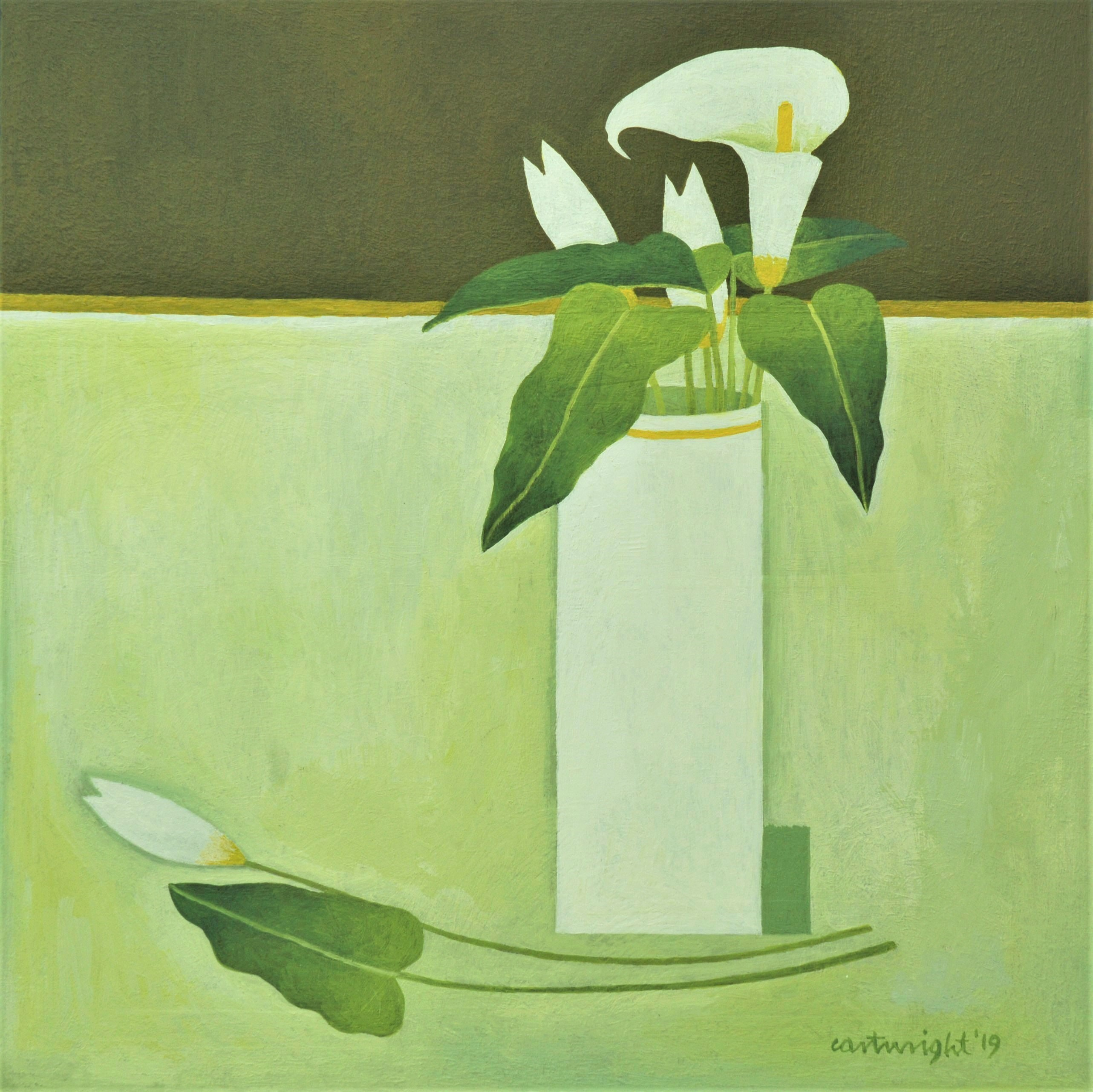 lilies in a vase painting by reg cartwright
